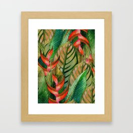Painted Jungle Leaves 2 Framed Art Print