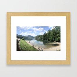 Lake in Hohenschwangau, Germany Framed Art Print