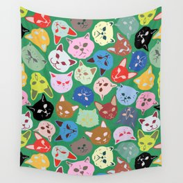 Cat Heads Pattern Wall Tapestry