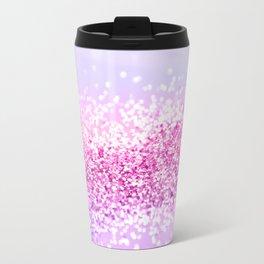 Pink Purple MERMAID Girls Glitter #1 #shiny #decor #art #society6 Travel Mug
