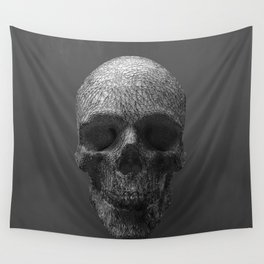 Geometric Grey Skull Lines Wall Tapestry