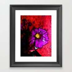 Lavender Flower with some Pink and Red Framed Art Print