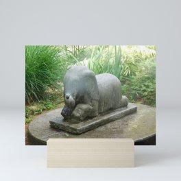 Misting Elephant Statue Mini Art Print