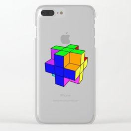 Abstract coloured cube Clear iPhone Case