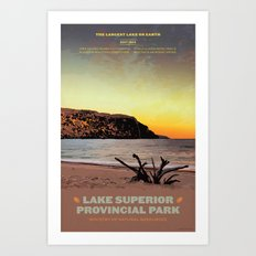 Lake Superior Provincial Park Art Print