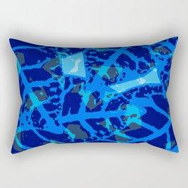 Blue Palm Shadows Rectangular Pillow