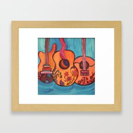 3 Guitars Framed Art Print