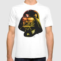 STAR WARS Darth Vader Mens Fitted Tee White MEDIUM