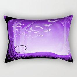 Dark Forest at Dawn in Amethyst Rectangular Pillow