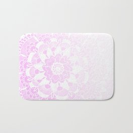 Bohemian Chic and Pretty in Pink Mandala Bath Mat