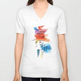 Isabella Art print Unisex V-Neck
