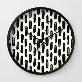 Ivory Vertical Dash Wall Clock