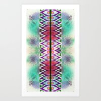 Art Print featuring Border 2 V Pattern 4 by Cie Ja