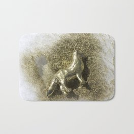 Gold Clay Dog in the Snow, No. 1 Bath Mat