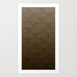 Brown Dog Ombre Art Print