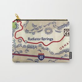 map radiator springs Carry-All Pouch