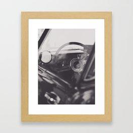 Super car details, british triumph spitfire, black & white, high quality fine art print, classic car Framed Art Print