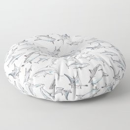 Shark-Filled Waters Floor Pillow
