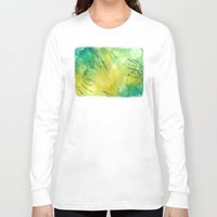 lime green Long Sleeve T-shirts featuring Watercolor Lime by MadC Productions