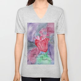 You Belong Where You are Loved Unisex V-Neck