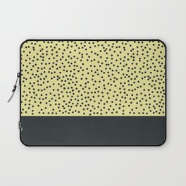 Dark navy dots on yellow Laptop Sleeve