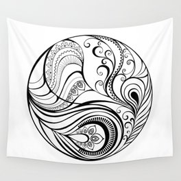 Abstraction with Peacock Feather Wall Tapestry