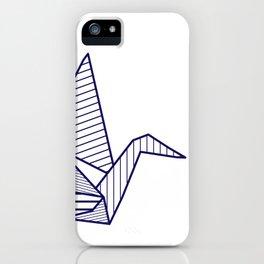 Swan, navy lines iPhone Case