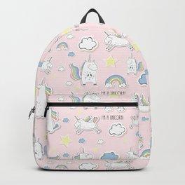 I'm a Unicorn - light pink Backpack