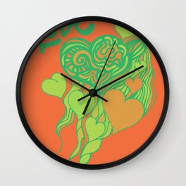 love and doodle Wall Clock