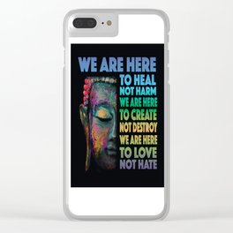 We Are Here Clear iPhone Case
