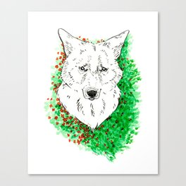 Flower Coyote Canvas Print