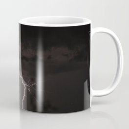 Lighting bolt during an obscure night Coffee Mug