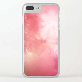 Universe of Fireworks. Clear iPhone Case