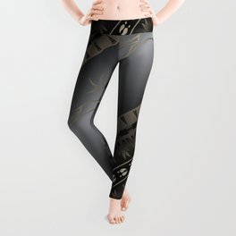 Elk Spirit (Gray) Leggings