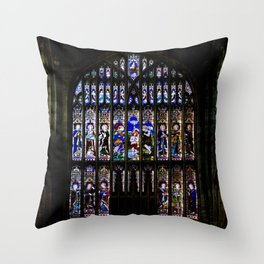 Stained Glass Window Shakespeare's Church Stratford upon Avon England Throw Pillow
