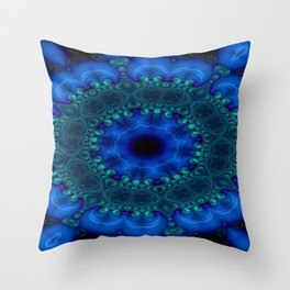 Battling At The Chasm Mandala 9 Throw Pillow