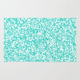 Tiny Spots - White and Turquoise Rug
