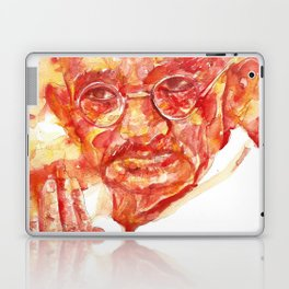 MAHATMA GANDHI - watercolor portrait Laptop & iPad Skin