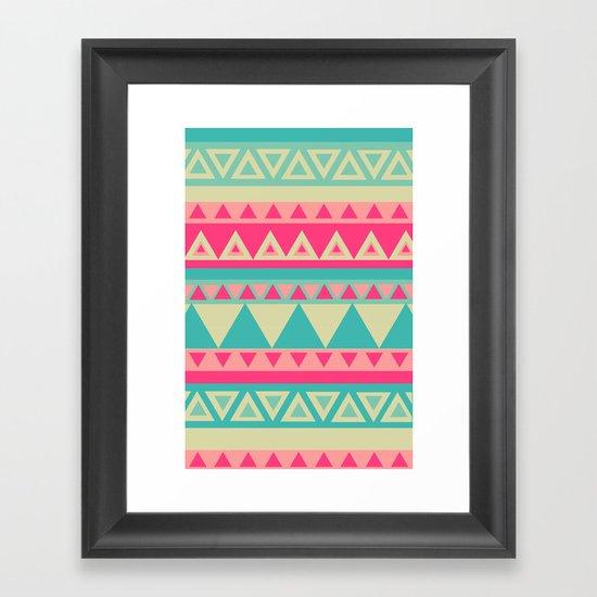 Tropical Tribal Framed Art Print