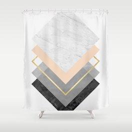 Modern geometric art XVIII Shower Curtain