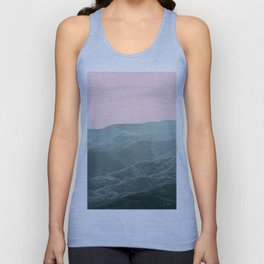 Mountains Pink + Green - Nature Photography Unisex Tank Top