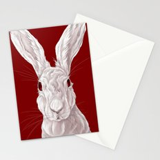 Red Rabbit  Stationery Cards