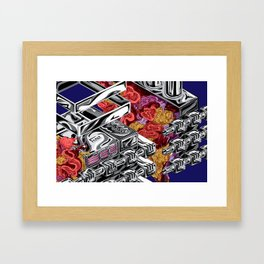 Mechanical Organism Framed Art Print