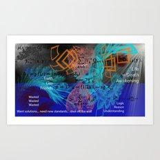 Digital Mind Art Print