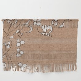 Floral pattern with butterfly Wall Hanging