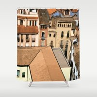 spain Shower Curtains featuring Spain Landscape by Liza Q.