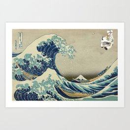 The Great Wave Off Katara Art Print