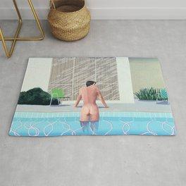 Man And Pool Rug