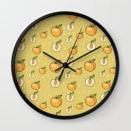 Fresh Peaches Wall Clock