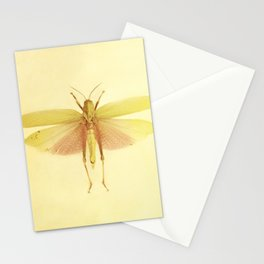 Vintage Inspired Pastel Yellow Salmon Butterfly Stationery Cards